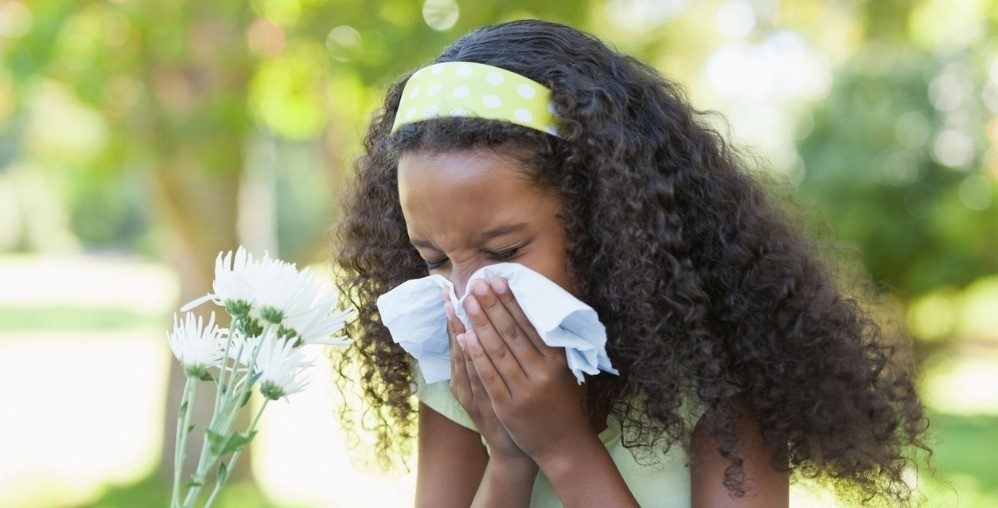 young girl allergies